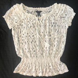 I.N.C. White Lace Top